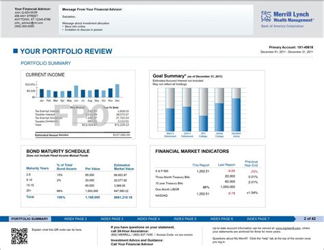 Merrill Lynch Financial Advisor Sle Resume by Merrill Lynch Brokerage Statement Redesign Strategy In Mind