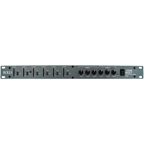 Audio Mixer Rack Mount Rolls Rm68 Zone Wolf Dual Zone 6 Channel Rack Mount Mic