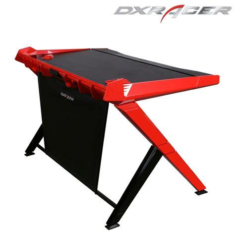 Black Gaming Desk Dxracer Gd1000nr Gaming Desktop Office Desk Computer Desks Gaming Black And Desks Home