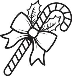 free coloring pages christmas candy