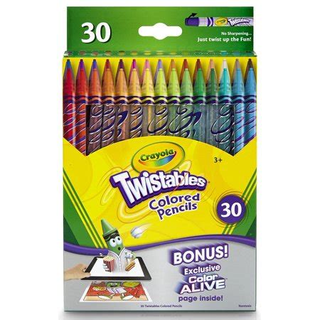 crayola twistable colored pencils crayola 30 count twistable colored pencils walmart