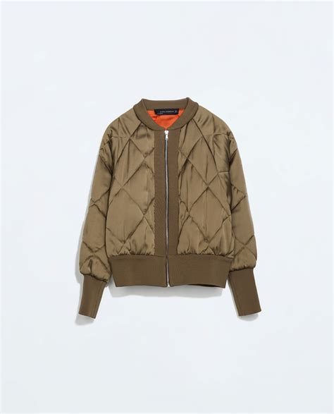 Bomber Quilted Jacket by Zara Cropped Quilted Bomber Jacket In Lyst