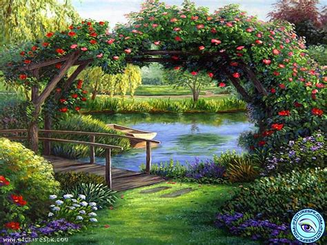 Beautiful Scenery Selected Resoloution 1024x768 Size Flower Garden Scenery