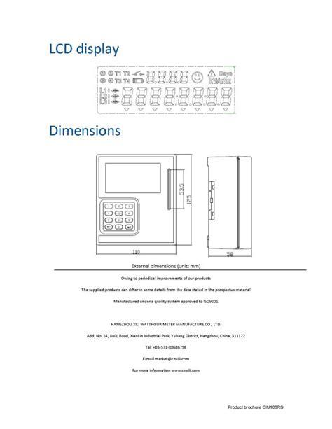 residential electric meter dimensions