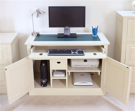 Hideaway Laptop Desk Computer Desk Hideaway Home Office Study Pc Laptop Modern Furniture Ebay