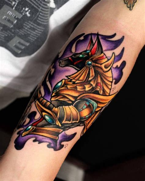14 impressive anubis tattoo designs