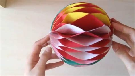 How To Make Paper Balls - honeycomb diy tutorial