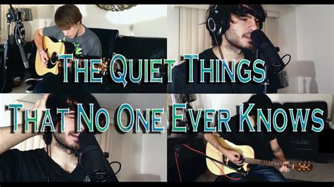 no one knows acoustic cover the things that no one knows brand new