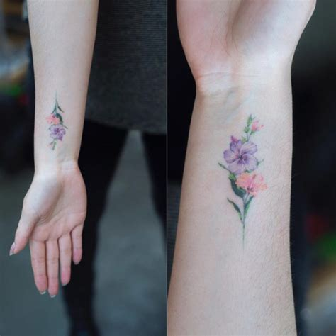 delicate wrist tattoo designs 40 and tiny floral tattoos for tattooblend