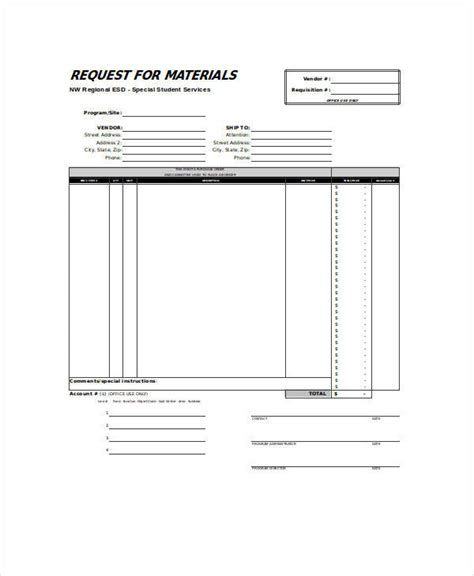 material requisition form template 22 requisition forms in excel sle templates