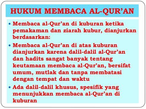 Konsep Hukum konsep hukum dan dalil membaca al qur an di kuburan