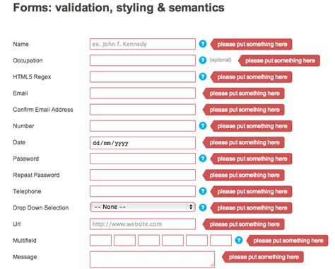 Credit Card Form Validation Script 13 jquery validation plugins that are useful templates