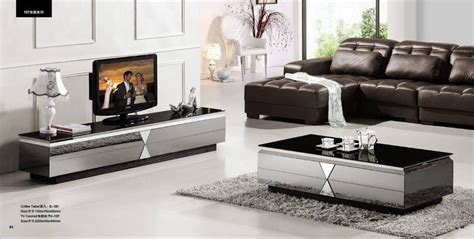 Modern Living Room Table Sets Gray Mirror Modern Furniture Coffee Table And Tv Cabinet Set Smart And Fashion Living Room