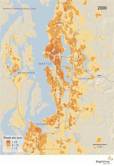 seattle map elevation seattle area population density map sightline institute