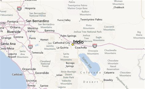california map indio indio weather station record historical weather for
