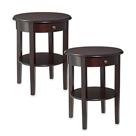 bed and side table set charleston side tables set of 2 bed bath beyond