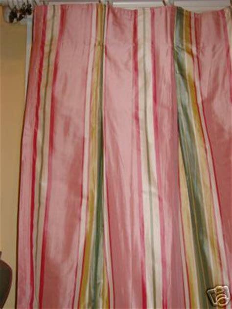 pink silk drapes pink green stripe silk drapery panels drapes curtains
