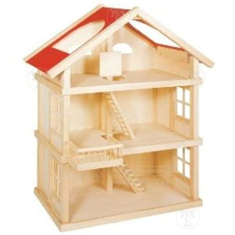 Large Dolls House Made From Wood Wooden Toys