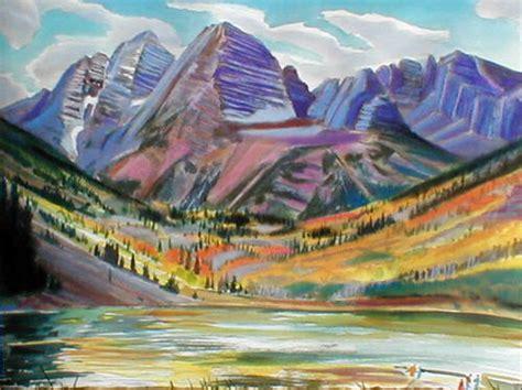 watercolor tattoos fort collins maroon bells colorado watercolor and pastel landscapes