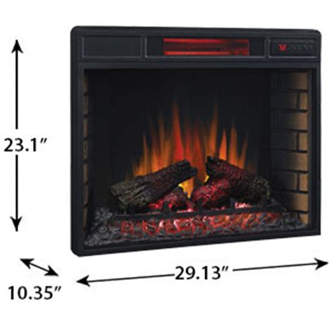 classicflame 28 in spectrafire infrared electric fireplace