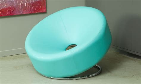 Donut Chair by Nouvelle Bonded Leather Donut Chair Groupon