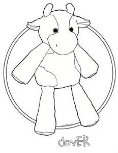 clover the cow scentsy buddy coloring page scentsy