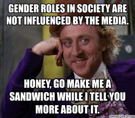 Media Memes - gender roles in society are not influenced by the media
