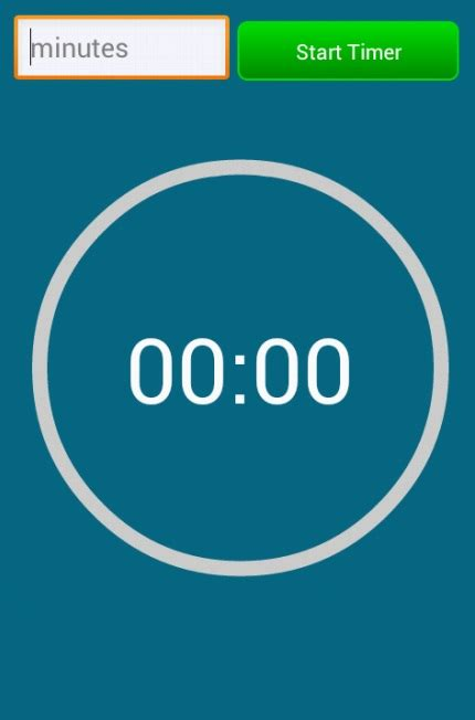 timer android android countdown timer circular progress bar doesn t
