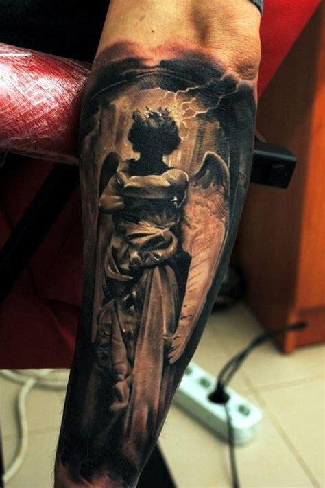 tattoo religious angel amazing angel silhouette religious tattoo arm tattoos
