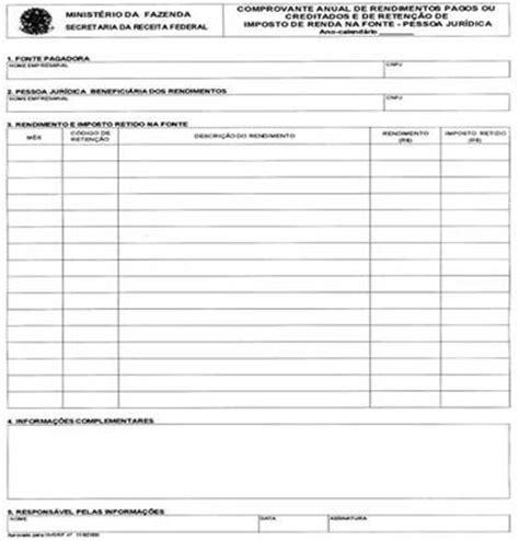 comprovante de rendimentos pagos e de reteno de imposto de renda 2016 do inss comprovante anual de rendimentos pagos 01 2016