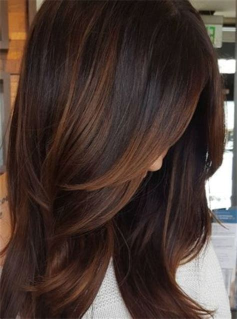 Creative dark brown hair color highlights ideas 19   VIs Wed
