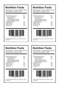Templates For Food Labels by Nutrition Label Template Create Nutritional Labels
