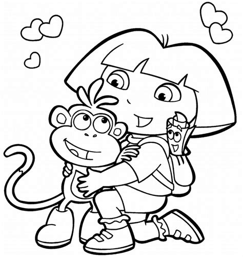 printable coloring pages dora and boots printable dora coloring pages free printable coloring