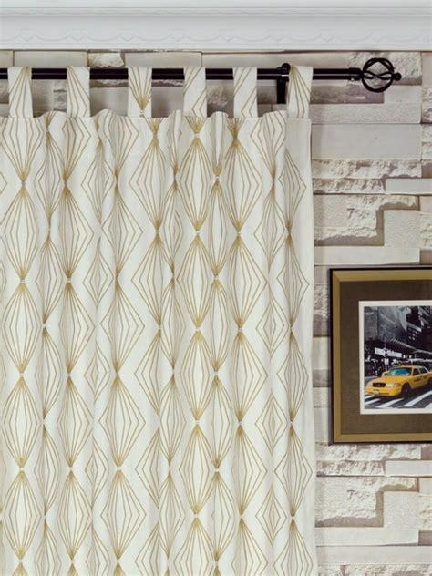 plaid tab top curtains 50 x 84 embroidered plaid geometrical tab top window