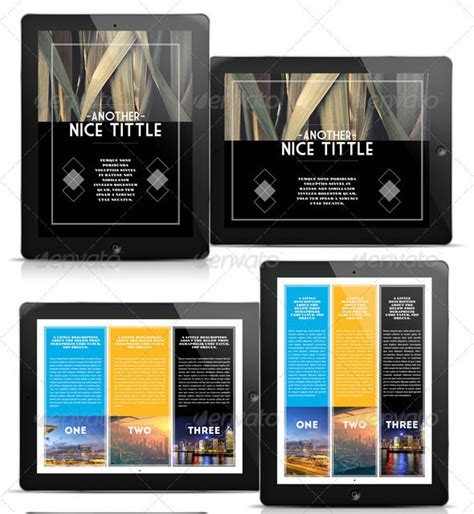 Awesome Digital Magazine Templates For Tablets 56pixels Com Electronic Magazine Template