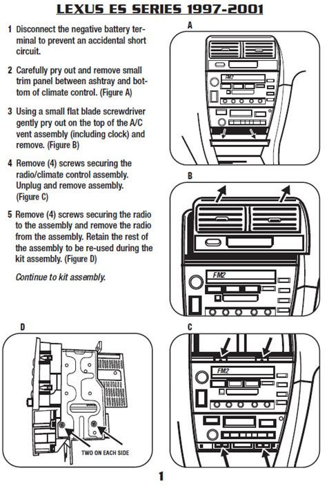 2001 lexus es300 radio diagram wiring automotive wiring