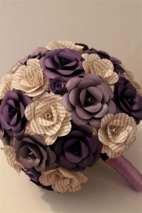 How To Make Paper Flower Bouquets For Weddings - book and card stock paper flower bouquet paper bouquet