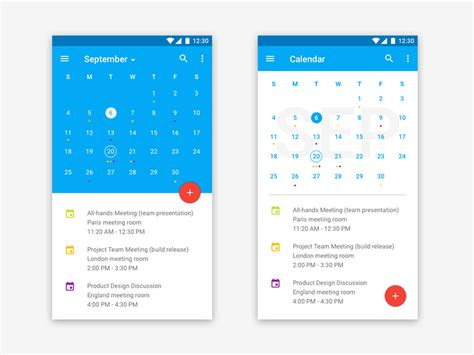 material design calendar android github material design calendar by chen liu dribbble