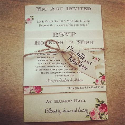 wedding invitations wording 15 beautiful shabby chic wedding invitations the shabby chic guru