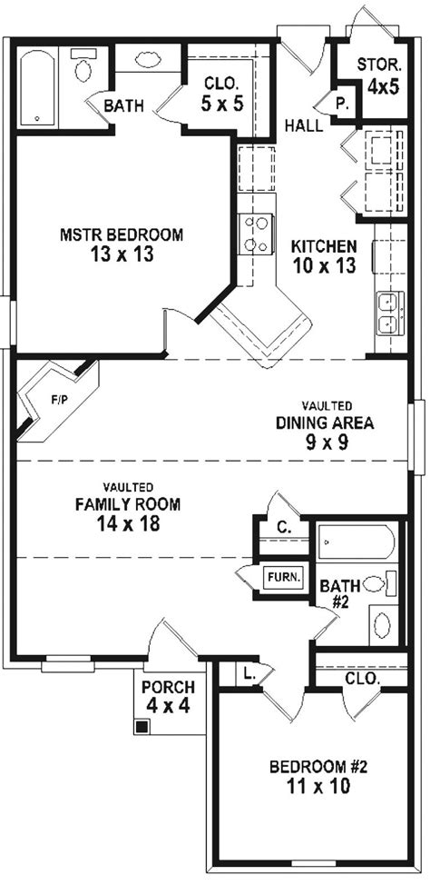 simple 2 bedroom house plans 654334 simple 2 bedroom 2 bath house plan house plans