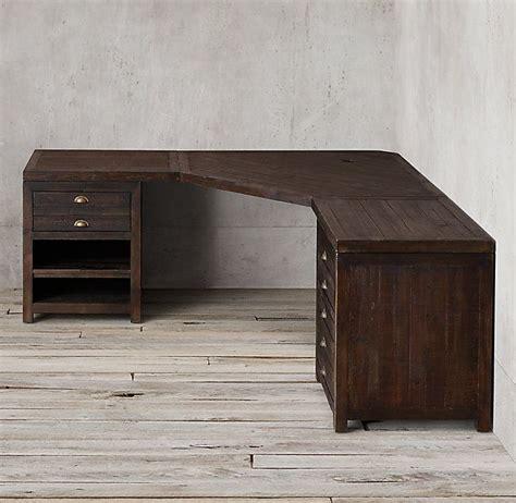 printmakers modular system  corner desk woodworking