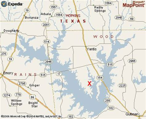 map of lake fork texas lake fork map