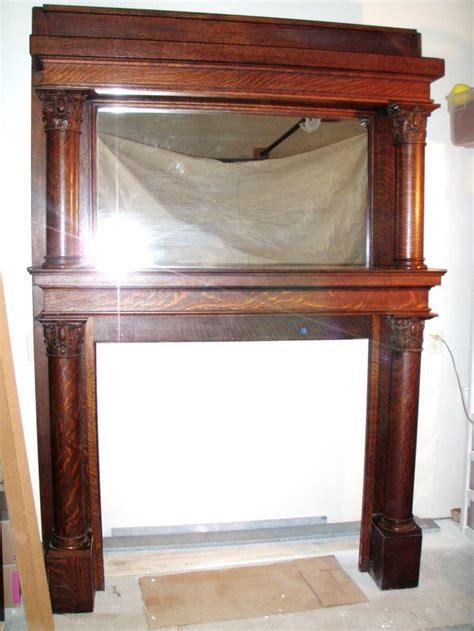 Antique Oak Fireplace Mantel by Antique Quartersawn Oak Fireplace Mantle Fireplace