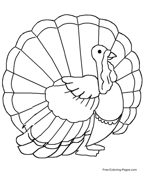 turkey clipart coloring page free printable thanksgiving coloring pictures 22