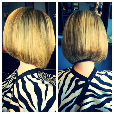 stacked a line haircut yelp short stacked slight a line bob by stephanie yelp