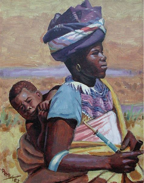 xhosa painting xhosa and child george pemba wikiart org