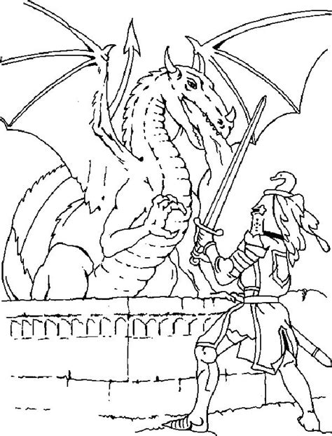 coloring pages knights and dragons pinterest discover and save creative ideas