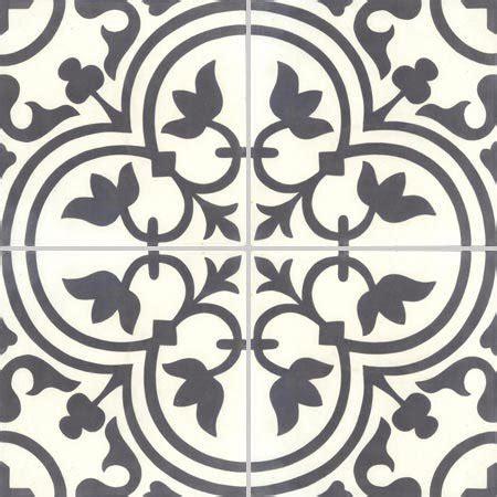 Carreaux De Ciment Blanc by Lot De 4 Carreaux De Ciment Normandie Noir Et Blanc L 40