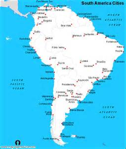 free south america cities map cities map of south