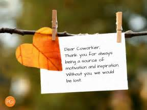 five thank you notes for your coworkers pgi